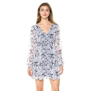 New BCBG Long Sleeve Rose Dress